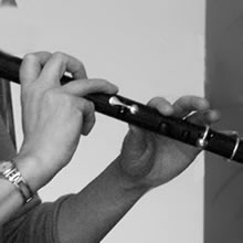 Tara Diamond playing flute